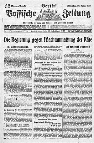 Vossische Zeitung vom 30.01.1919