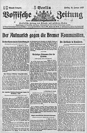 Vossische Zeitung vom 31.01.1919