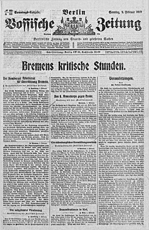 Vossische Zeitung vom 02.02.1919