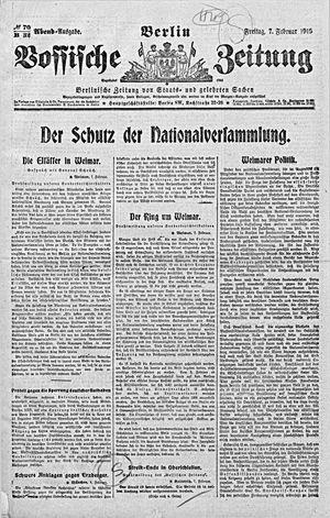 Vossische Zeitung vom 07.02.1919