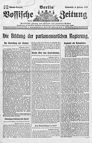 Vossische Zeitung vom 08.02.1919