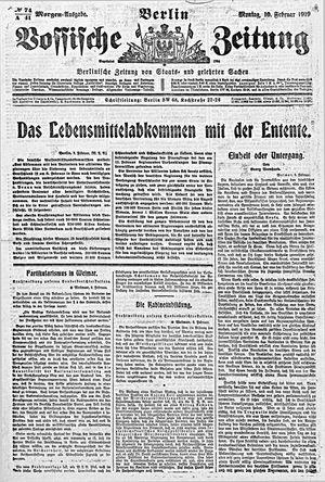 Vossische Zeitung vom 10.02.1919