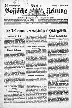 Vossische Zeitung vom 11.02.1919