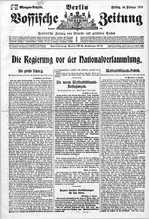 Vossische Zeitung vom 14.02.1919
