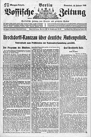 Vossische Zeitung vom 15.02.1919
