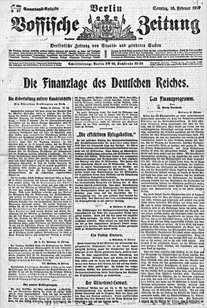 Vossische Zeitung vom 16.02.1919