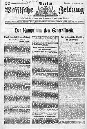 Vossische Zeitung vom 18.02.1919