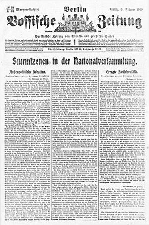 Vossische Zeitung vom 21.02.1919