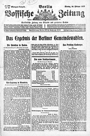 Vossische Zeitung vom 24.02.1919