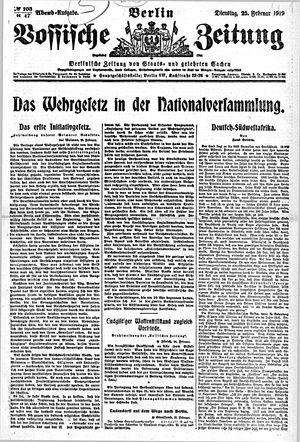 Vossische Zeitung vom 25.02.1919