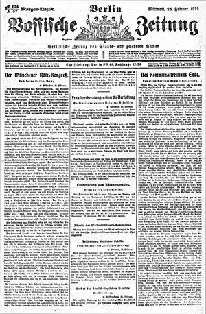 Vossische Zeitung vom 26.02.1919