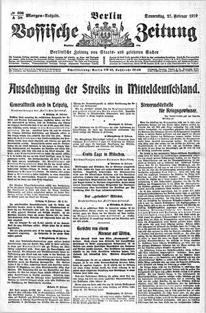 Vossische Zeitung vom 27.02.1919