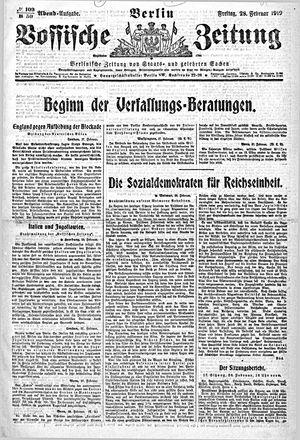 Vossische Zeitung vom 28.02.1919
