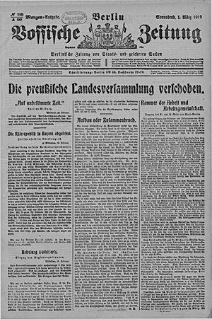 Vossische Zeitung vom 01.03.1919