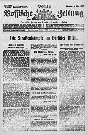 Vossische Zeitung vom 09.03.1919
