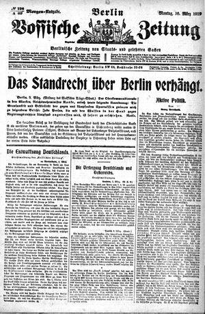 Vossische Zeitung vom 10.03.1919