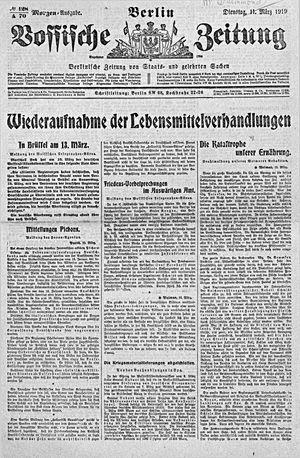 Vossische Zeitung vom 11.03.1919