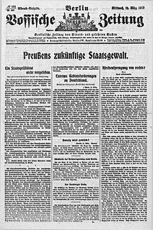 Vossische Zeitung vom 12.03.1919