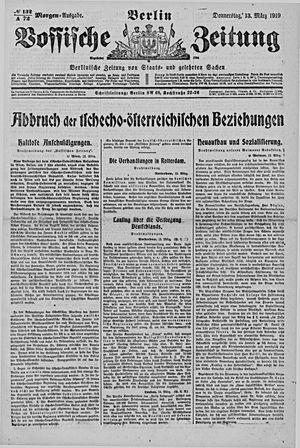 Vossische Zeitung vom 13.03.1919