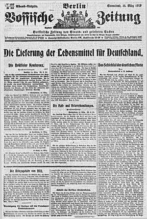 Vossische Zeitung on Mar 15, 1919