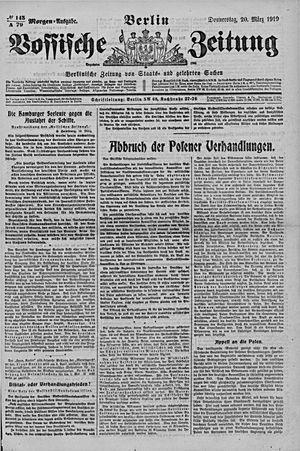 Vossische Zeitung vom 20.03.1919