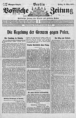 Vossische Zeitung vom 21.03.1919