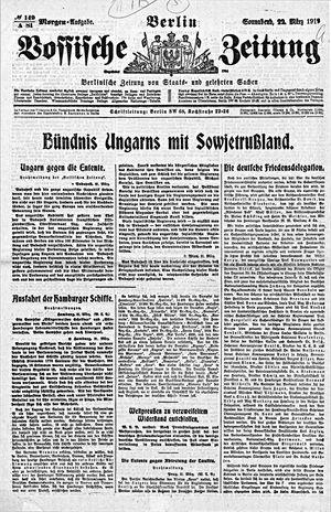Vossische Zeitung vom 22.03.1919