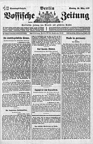 Vossische Zeitung vom 23.03.1919