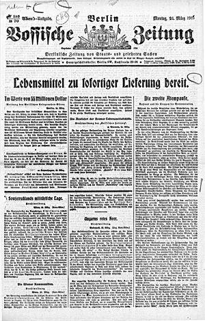 Vossische Zeitung vom 24.03.1919