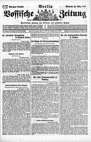 Vossische Zeitung vom 26.03.1919