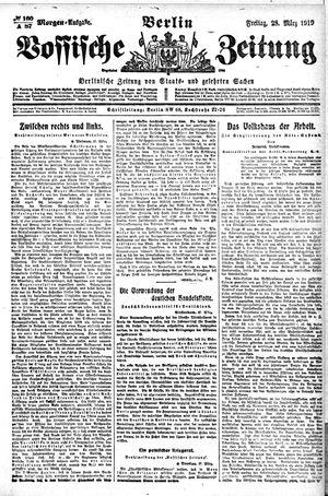 Vossische Zeitung vom 28.03.1919