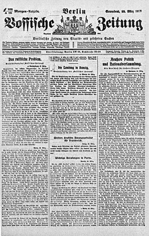 Vossische Zeitung vom 29.03.1919