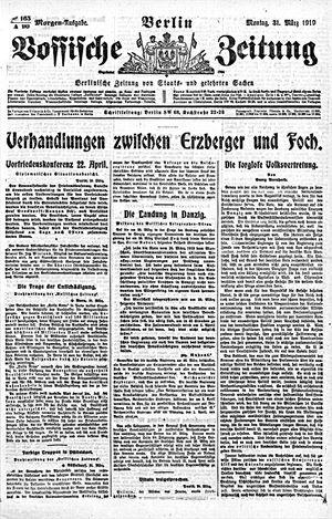 Vossische Zeitung vom 31.03.1919