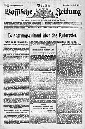 Vossische Zeitung vom 01.04.1919
