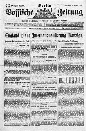Vossische Zeitung on Apr 2, 1919