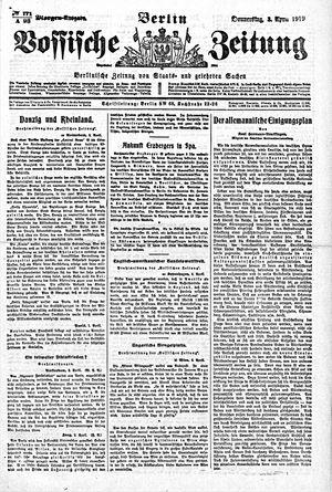 Vossische Zeitung vom 03.04.1919