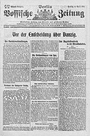 Vossische Zeitung on Apr 4, 1919