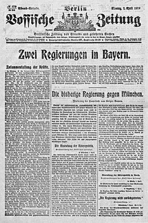Vossische Zeitung vom 07.04.1919