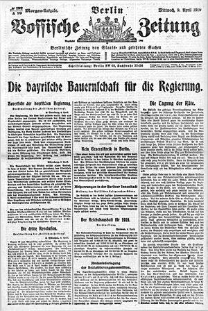 Vossische Zeitung vom 09.04.1919