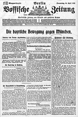 Vossische Zeitung vom 10.04.1919