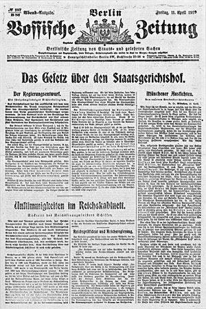Vossische Zeitung on Apr 11, 1919