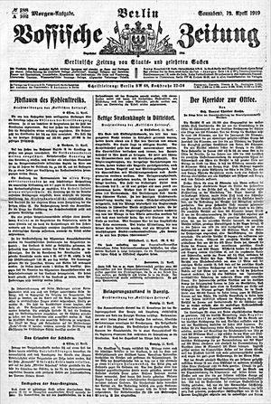 Vossische Zeitung vom 12.04.1919