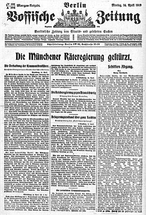 Vossische Zeitung vom 14.04.1919