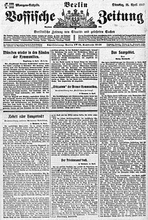 Vossische Zeitung vom 15.04.1919