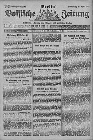 Vossische Zeitung vom 17.04.1919