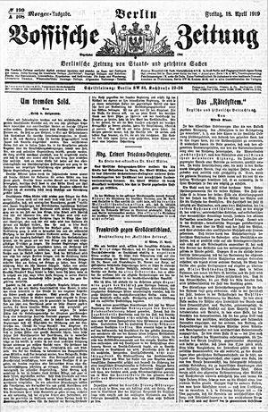 Vossische Zeitung vom 18.04.1919