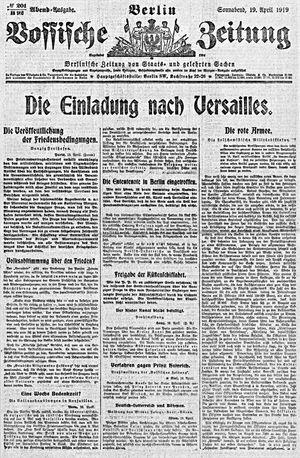 Vossische Zeitung on Apr 19, 1919
