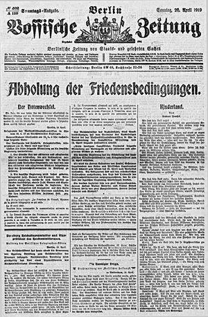 Vossische Zeitung vom 20.04.1919