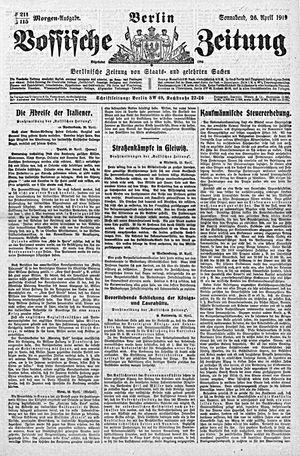 Vossische Zeitung vom 26.04.1919