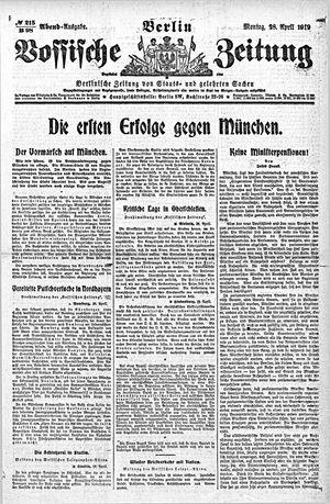 Vossische Zeitung vom 28.04.1919